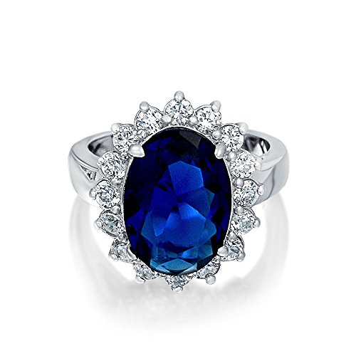 f832b947d8ba Bling Jewelry estilo Kate Middleton Plata Esterlina CZ 6ct Color Zafiro  Anillo de Compromiso