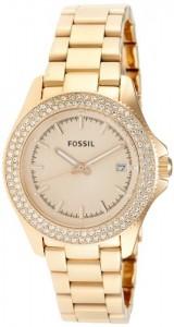 97270c5b174c Fossil AM4454 – Reloj analógico de cuarzo para mujer con correa de acero  inoxidable bañado