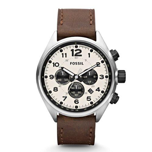 af68b2c3eb48 Fossil CH2835 – Reloj cronógrafo de cuarzo para hombre con correa de piel  ...